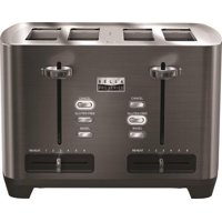 Bella - Pro Series 4-Slice Extra-Wide-Slot Toaster - Black stainless steel