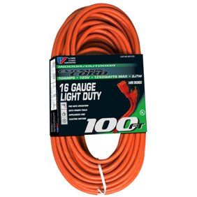 US Wire & Cable Corporation 100\' Power-On Outdoor/Indoor Cable ...