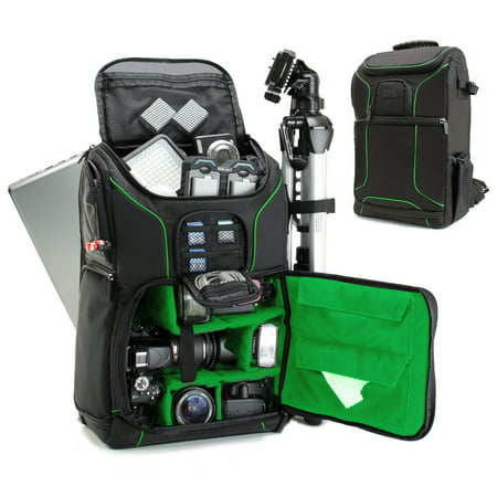 Digital SLR Camera Backpack (Green) with 15.6