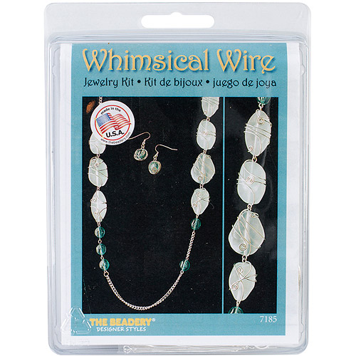 Whimsical Wire Necklace and Earrings Kit-Aqua