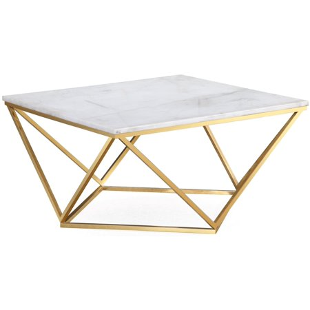 Leopold White Marble Cocktail Table Antique White Cocktail Table