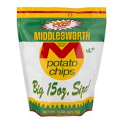 Middleswarth Potato Chips Big Size, 15 Oz.