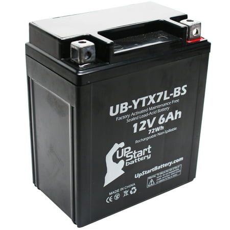 UpStart Battery Replacement 2011 Suzuki GZ250 250CC Factory Activated, Maintenance Free, Motorcycle Battery - 12V, 6Ah,