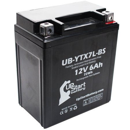 Replacement 1997 Yamaha XT225 Serow 225CC Factory Activated, Maintenance Free, Motorcycle Battery - 12V, 6Ah, UB-YTX7L-BS - image 1 de 4