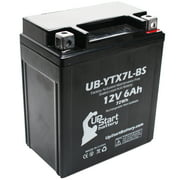 Replacement 2007 Kawasaki EX250 Ninja 250CC Factory Activated, Maintenance Free, Motorcycle Battery - 12V, 6Ah, UB-YTX7L-BS