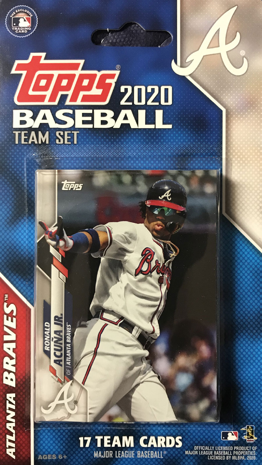 Atlanta Braves 2020 Topps Baseball Factory Sealed Special Edition 17 Card Team Set with Ronald Acuna Jr and Ozzie Albies Plus