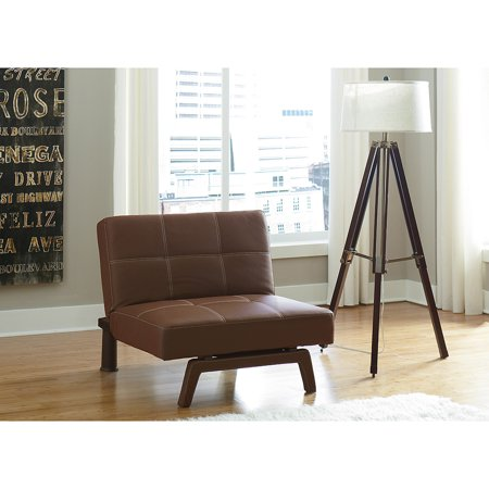 Delaney Chair Brown Faux Leather
