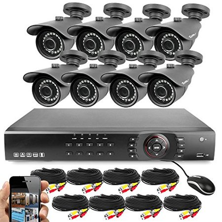 Best Vision 16CH 4-in-1 HD DVR Security Camera System (1TB HDD), 8pcs 1080P High Definition Outdoor Cameras with Night Vision - DIY Kit, App for Smartphone Remote (Best Home Security Camera Outdoor 2019)