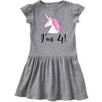 4th Birthday Cute Unicorn Toddler Dress