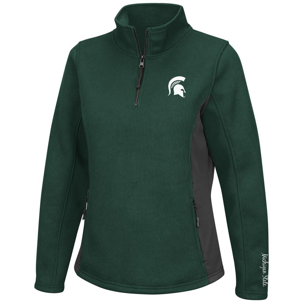 Ladies High Bar Michigan State University Quarter Zip Jacket by Colosseum