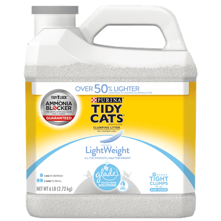 - Tidy Cats LightWeight Glade Tough Odor Solutions Clear Springs Clumping Dust Free Cat Litter - 6 lb. Jug