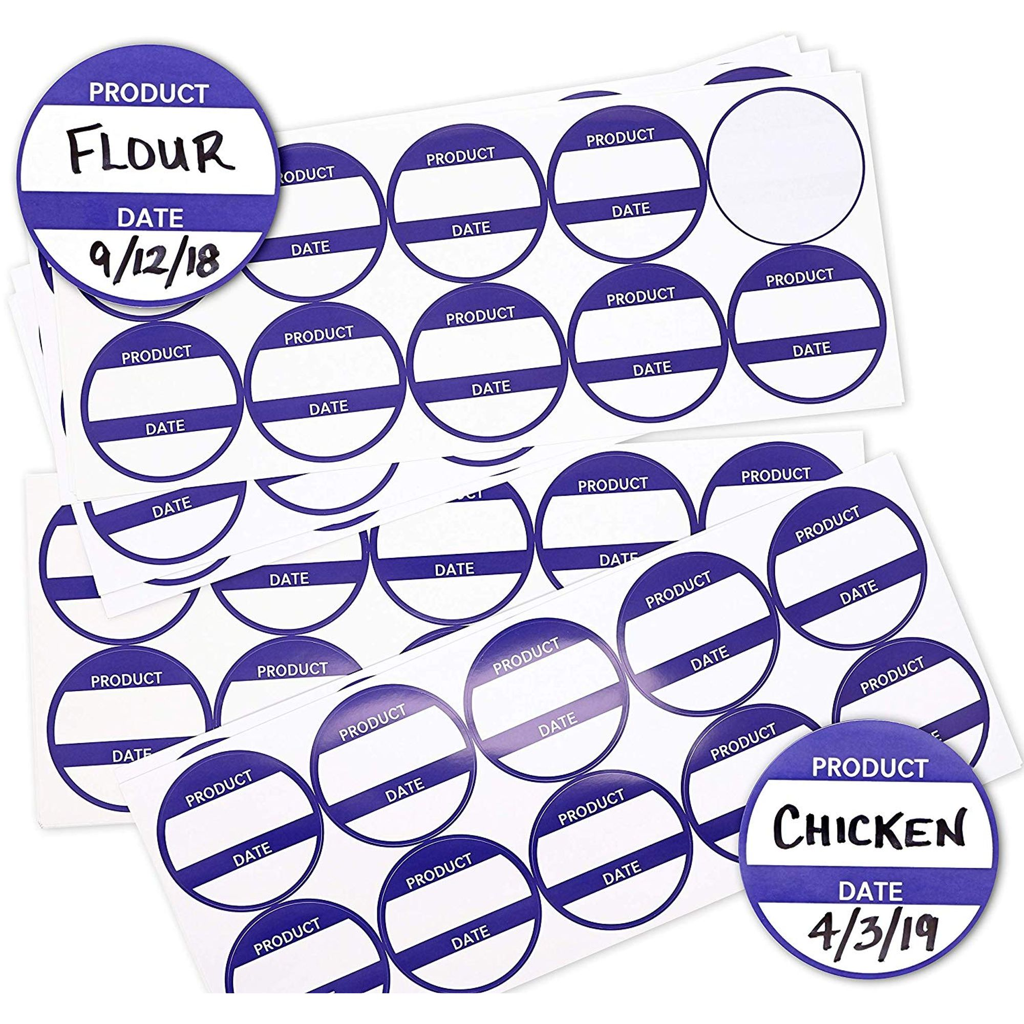 """500 Pack 2 x 1/"""" Removable Food Storage Freezer//Refrigerator Date Labels Stickers"""
