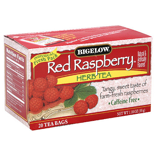 Bigelow Red Raspberry Herbal Tea, 20ct  (Pack of 6)