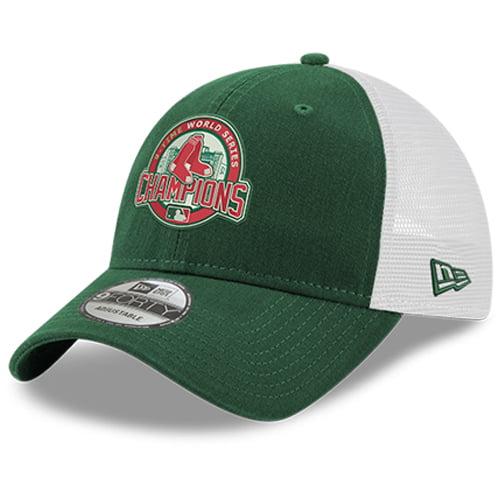 Boston Red Sox New Era 2018 World Series Champions Green Monster Trucker 9FORTY Adjustable Hat - Green - OSFA