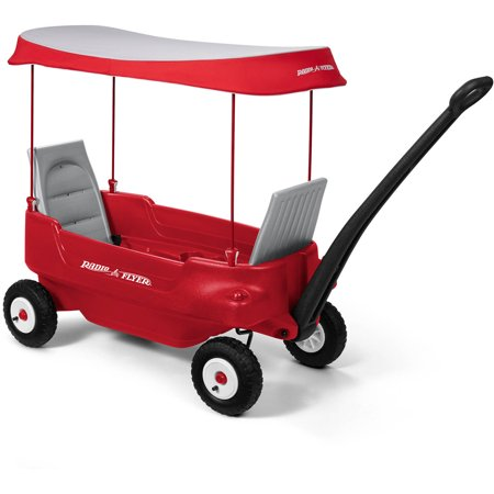 Radio Flyer, Deluxe All-Terrain Pathfinder Wagon with Canopy, Air Tires Wagon Plastic Model