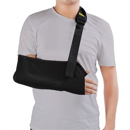 WALFRONT Arm Sling for Shoulder - arm sling shoulder immobilizer - arm sling extra large - Medical Bracing High Pouch Support Strap Fit Left and Right Arm Lightweight Breathable