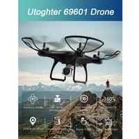 Utoghter 69601 720P Camera Wifi FPV Drone Voice Control Altitude Hold 3D Flip Headless RC Quadcopter