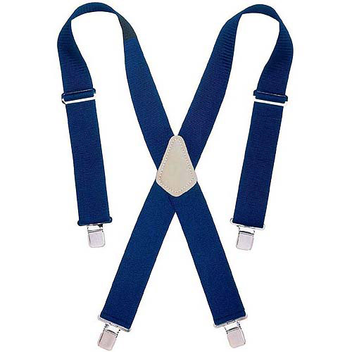 "Custom Leathercraft 110BLU 2"" Wide Blue Work Suspenders"