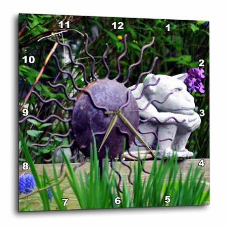 3dRose Little gargoyle sitting - Wall Clock, 13 by 13-inch