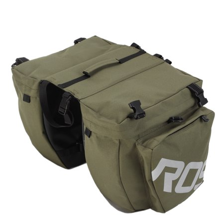 3-in-1 Waterproof Bicycle Cycling Pannier Bag Gear Pack Army