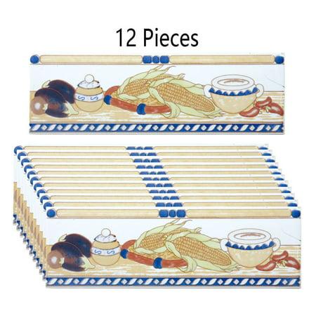(12 Pcs Ceramic Listello Tile Border Chair Rail 3
