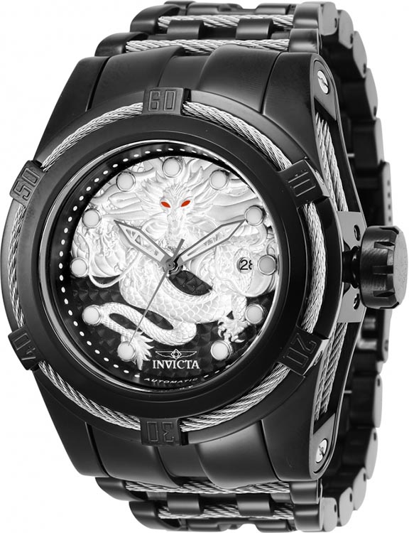 Invicta Men's Bolt Automatic 200m Black Stainless Steel Watch 28771
