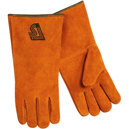 "Steiner 2119C-Xs 14"" Side Split Cowhide Stick Gloves, X-Small"
