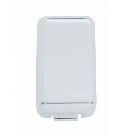 Chrome Plastic Volvo Switch Plug Cover - Plain