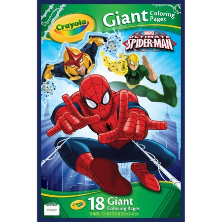 Crayola Giant Coloring Pages Spiderman Walmart Com