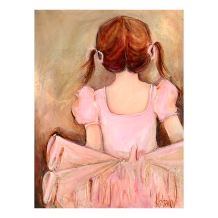 Oopsy Daisy\'s Sweet Ballerina Brunette Canvas Wall Art, 14x18 ...