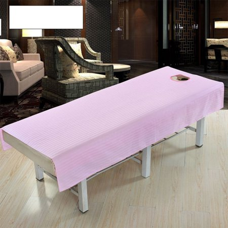 Cotton Waterproof Fashion Beauty Salon Body Spa Massage Table Cloth Bed Cover Sheet with Face Hole Pure Color Color:Pink Size:80 * - Water Massage
