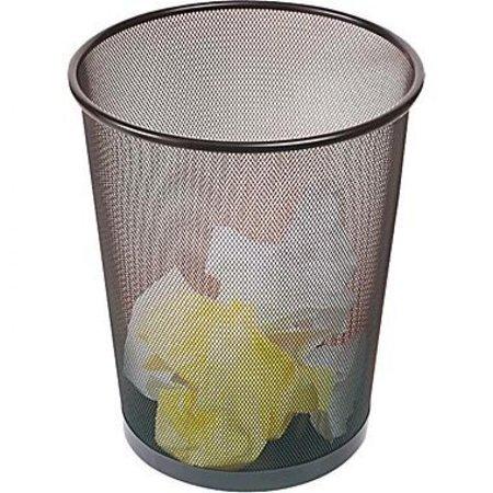 Brighton Professional Black Wire Mesh Round Wastebasket, 5
