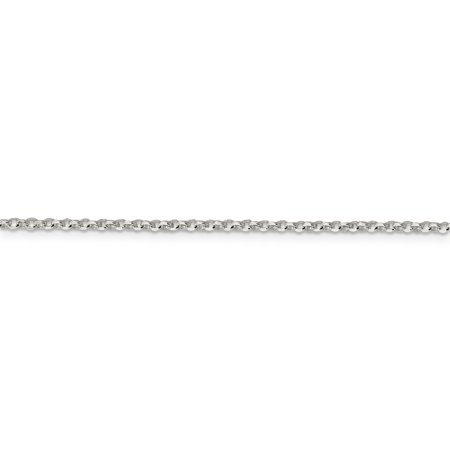 925 Sterling Silver 2mm 8 Side Diamond-cut Cable Chain 18 Inch - image 5 of 5