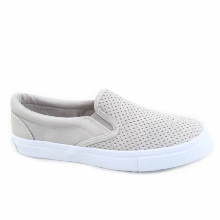 Tracer-S Women's Causal Slip On Elastic Round Toe Perforated Athletic Flat Heel Sneaker Shoes](Sneakers Flats)