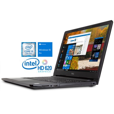 "Dell Inspiron 3567 Notebook, 15.6"" HD Display, Intel Dual-Core i5-7200U Upto 3.1GHz, 8GB RAM, 1TB HDD, DVDRW, HDMI, Card Reader, Wi-Fi, Bluetooth, Windows 10 Pro"
