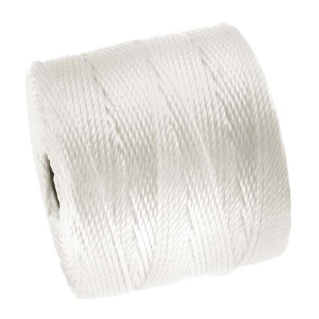 - Super-Lon (S-Lon) Cord - Size 18 Twisted Nylon - White / 77 Yard Spool