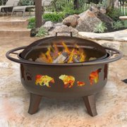 Landmann USA Patio Lights Firedance Bear and Paw 36 diam. Fire Pit