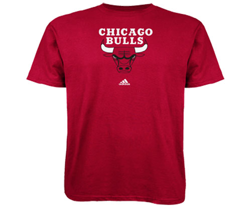 Chicago Bulls Adidas Primary logo NBA Men T Shirt Red S by Adidas