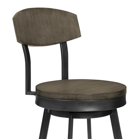 """Conway 30"""" Bar Height Barstool in Mineral Finish and Grey Walnut Seat - image 2 de 5"""