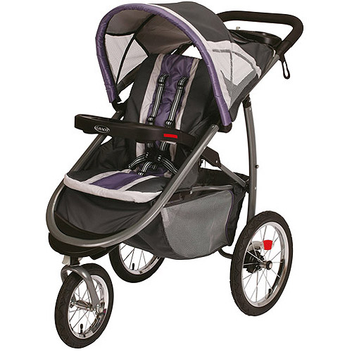 Graco FastAction Fold Jogger Click Connect Jogging Stroller, Grapeade