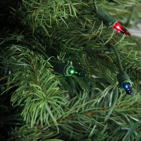 4' illuminé Noble Sapin Plein arbre de Noël artificiel - Lumières multicolores - image 1 de 2
