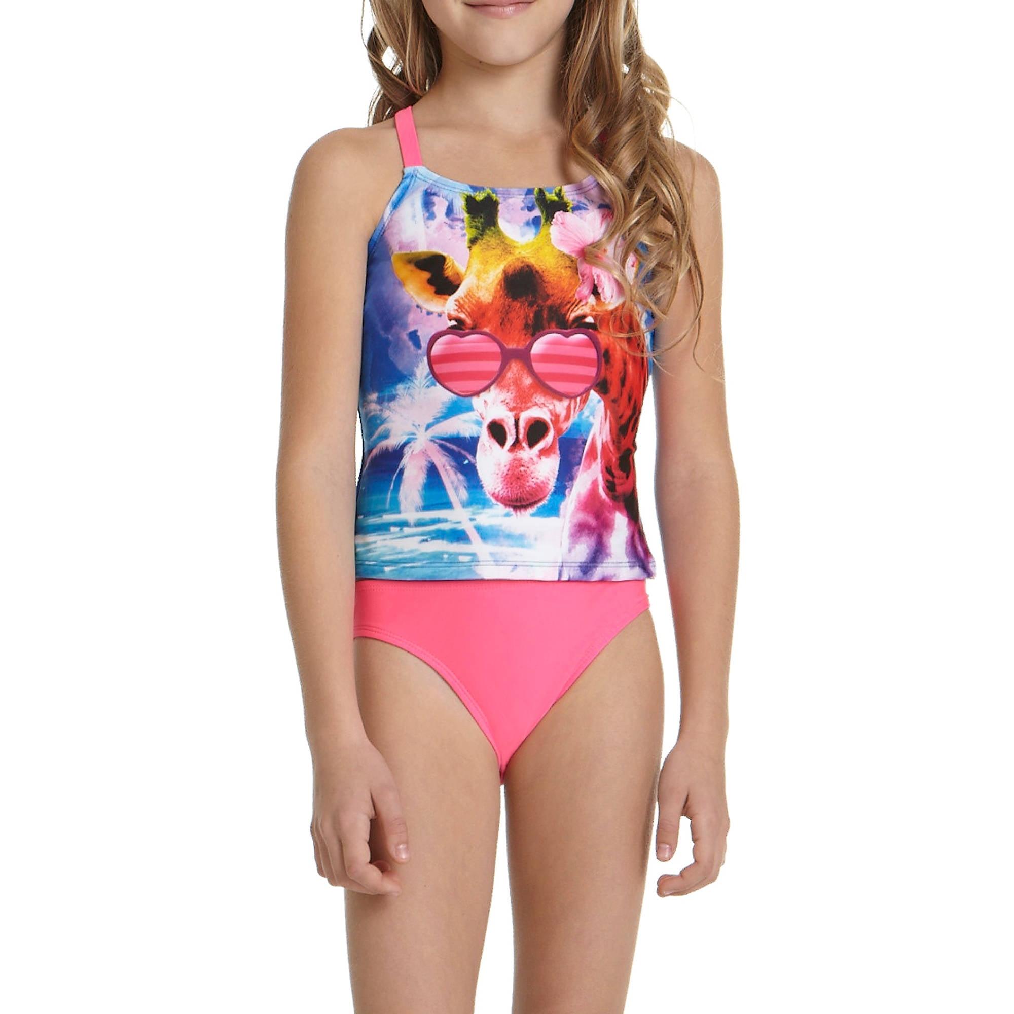 26b786e71ab OP - Girls' Giraffe Laugh Tankini Swimsuit - Walmart.com