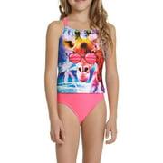 Girls' Giraffe Laugh Tankini Swimsuit