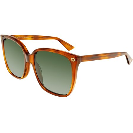 094500e8f3 Gucci - GG0022S-002-57 Brown Square Sunglasses - Walmart.com