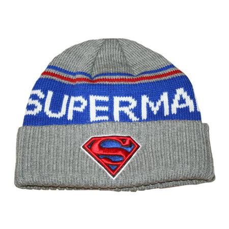 Superman Emblem Adult Cuff Knit Beanie Hat