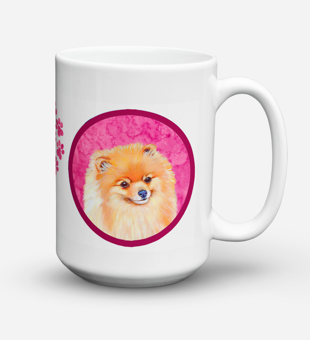 Pomeranian  Dishwasher Safe Microwavable Ceramic Coffee Mug 15 ounce