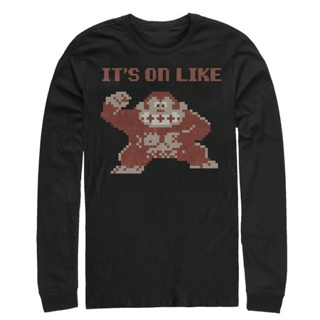 cf8dbe49b Nintendo - Nintendo Men's It's on Like Donkey Kong Long Sleeve T ...