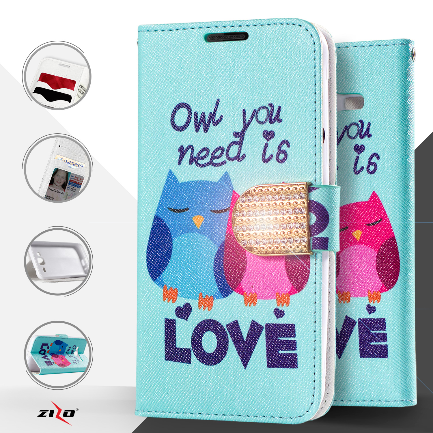 rotate iphone video zizo 174 design wallet pouch for lg spree optimus zone 3 4270