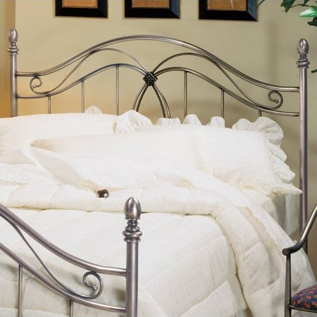 Hillsdale Milano Metal Headboard in Antique Pewter-Full/Queen ()