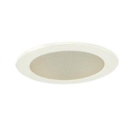 Jesco Lighting TM412WH 4 in. Low Voltage Shower Trim With Albalite Glass Glass Low Voltage Trim